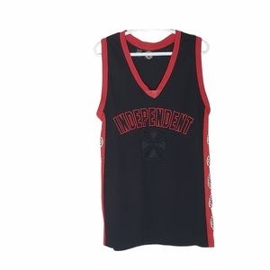 Independent tank top black and red XL